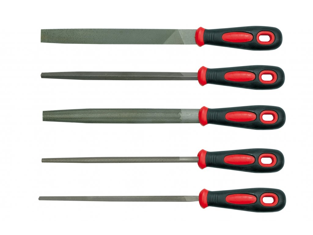 Sada pilníků zámečnických 200 mm 5 ks VOREL