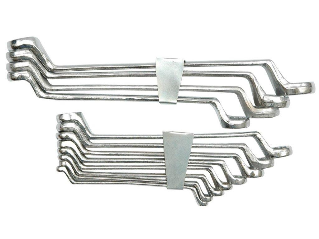 Sada klíčů očkových 12 ks 6 - 32 mm ohnuté spona