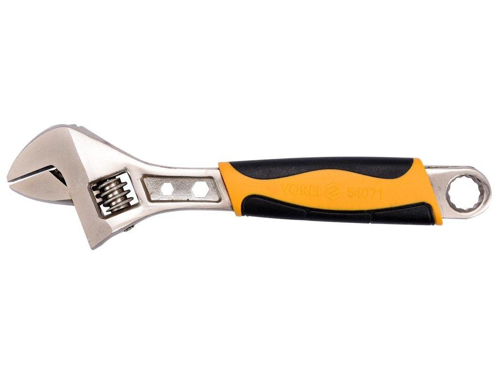 Klíč nastavitelný 200 mm plastová rukojeť