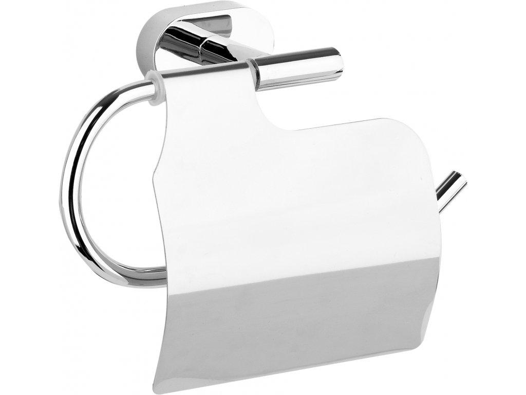 Držák toaletního papíru s krytem Oval Chromové