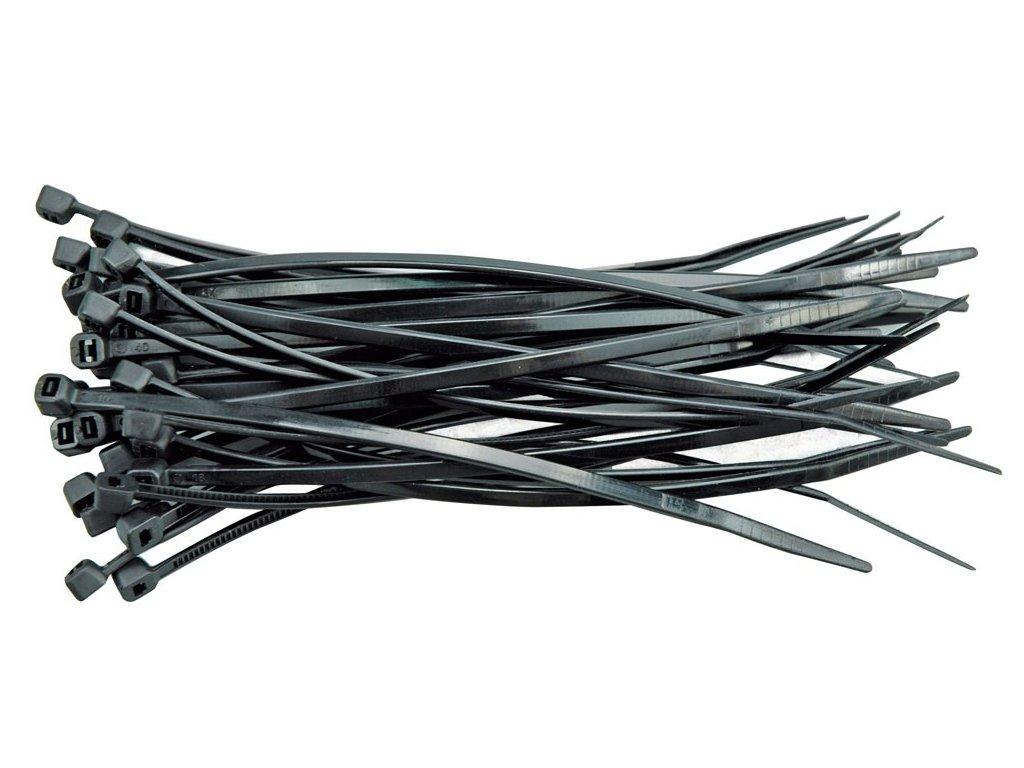 Páska stahovací  75 x 2,4 mm 100 ks černá