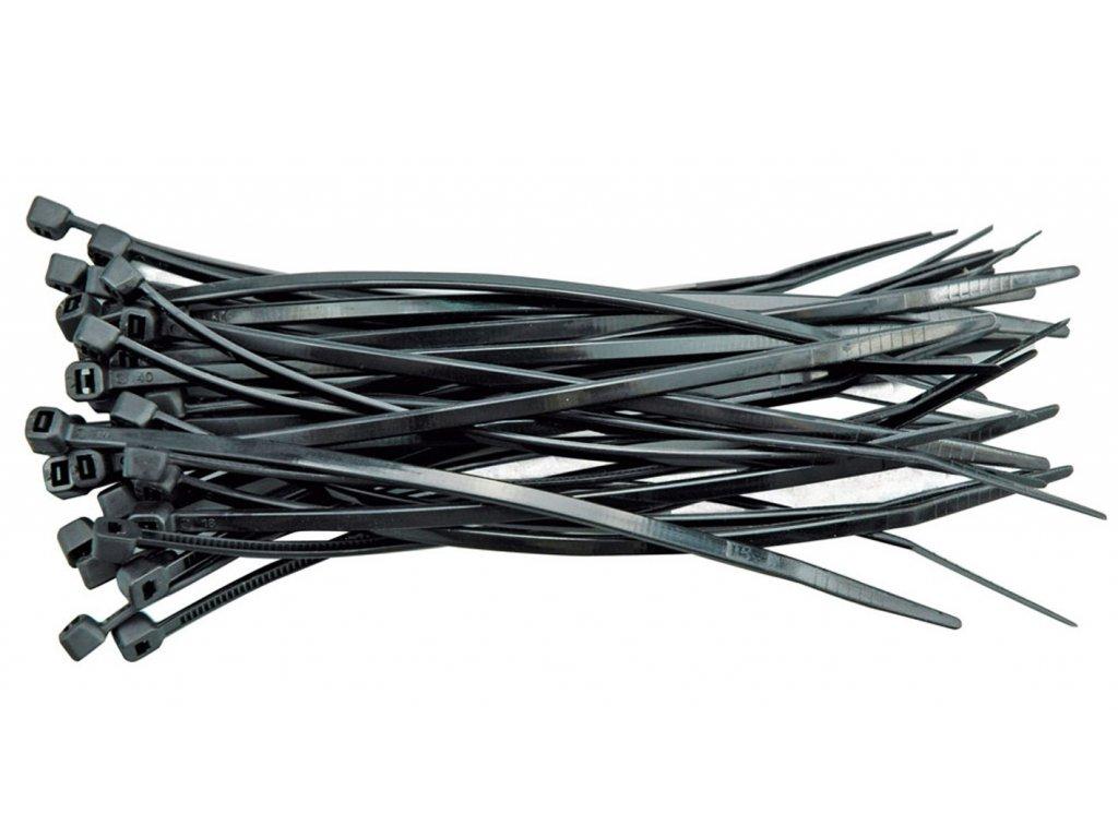 Páska stahovací 150 x 2,5 mm 100 ks černá