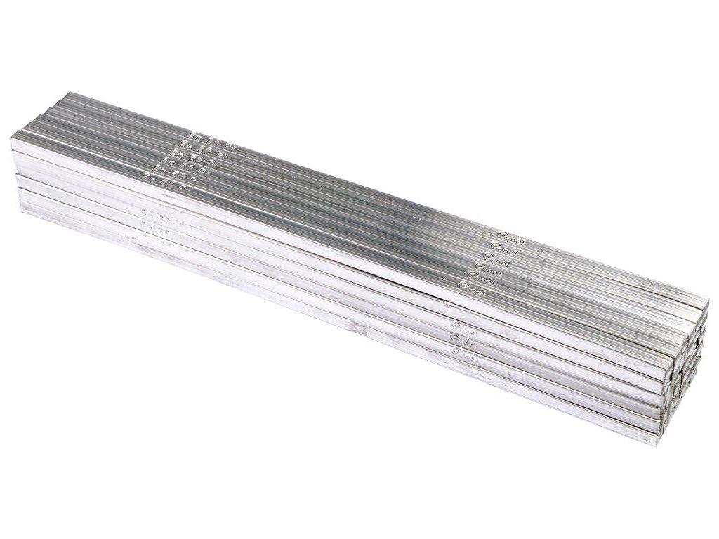 Cín (pájka) pájecí v tyčích 7x7x322mm, 36ks/5kg  (Sn60 Pb40)