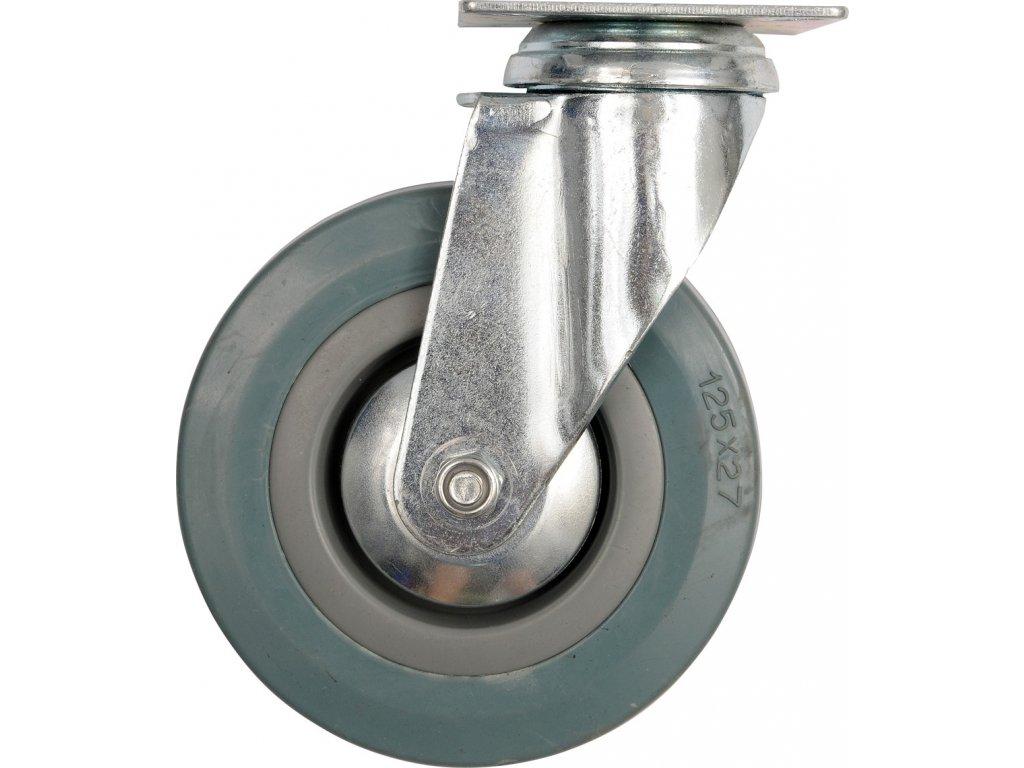 Kolečko otočné, gumové 30kg 75/21/104mm