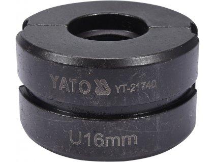 Náhradní čelisti k lisovacím kleštím YT-21735 typ U 16 mm