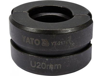 Náhradní čelisti k lisovacím kleštím YT-21735 typ U 20 mm