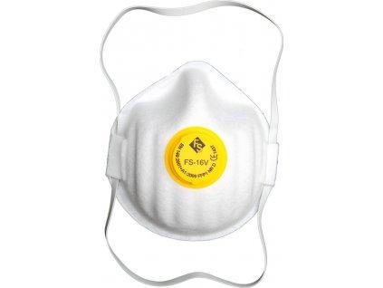 Maska protiprašná s ventilem 3 ks