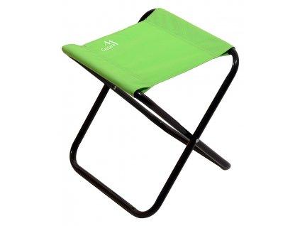 Židle kempingová skládací MILANO zelená