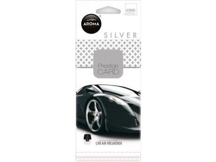 Osvěžovač AROMA CAR PRESTIGE CARD SILVER