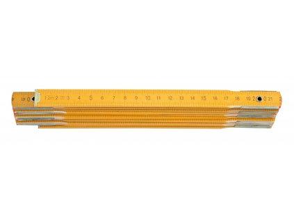 Metr skládací 1 m dřevěný žlutý