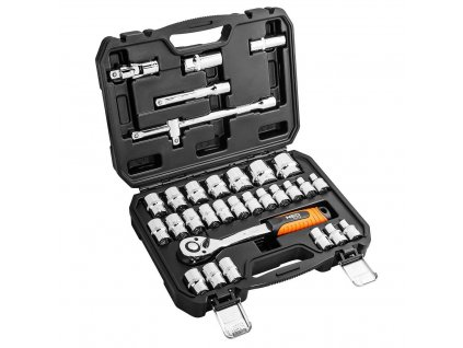 """Nástrčné klíče NEO 1/2 """", 32dílná sada, CrV  08-662"""