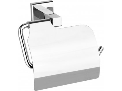 Držák toaletního papíru s krytem Quad Chromové
