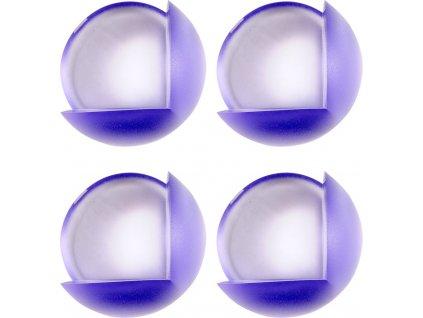 Chráníč na rohy nábytku, samolepící,  modrý průsvit, 4 ks