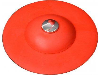 Výpusť umyvadlová silikonová s filtrem červená