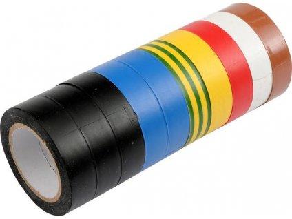 Páska PVC 19 x 0,13 mm x 20 m 10 ks barevné