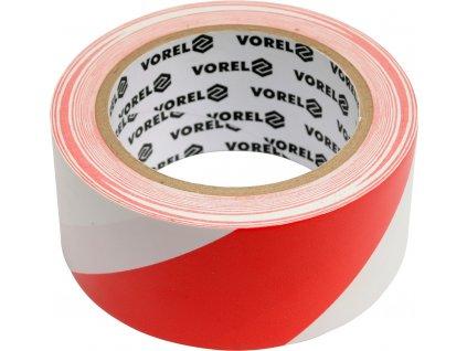 Páska výstražná červenobílá 48 mm x 33 m