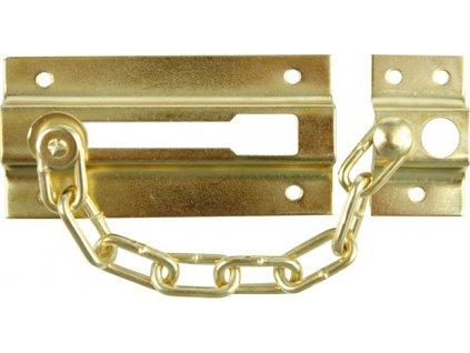 Řetěz na dveře zlatý