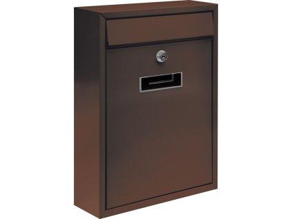 Poštovní schránka 360x260x80mm hnědá