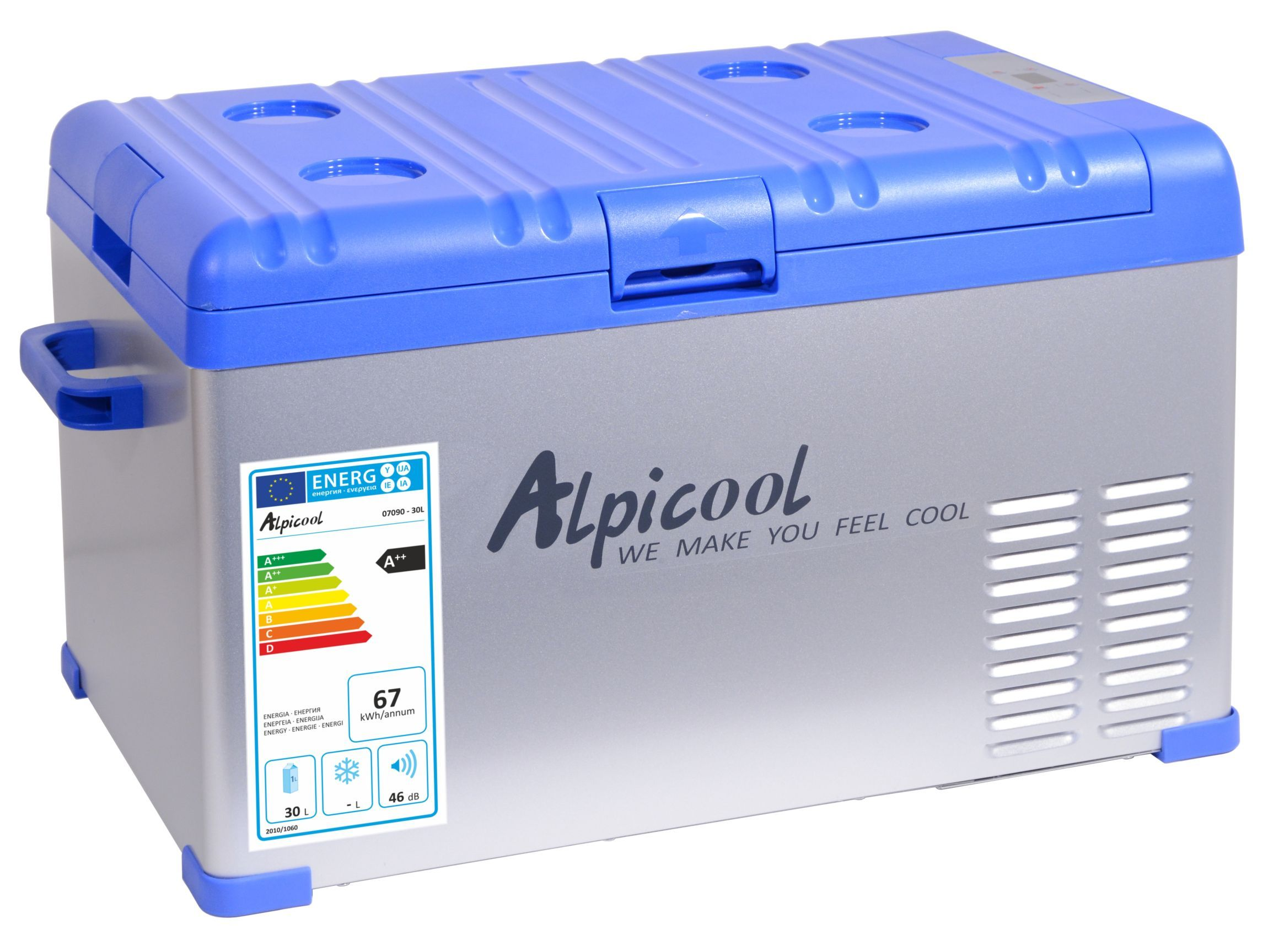 Chladící box kompresor 30l 230/24/12V -20°C GREY