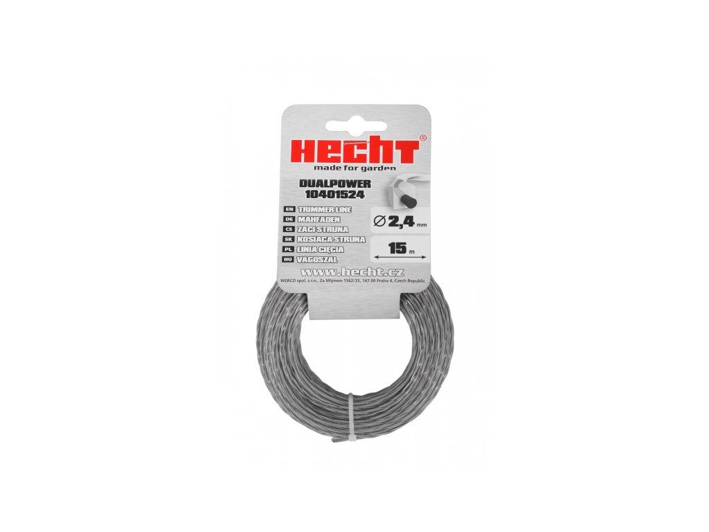 HECHT 10401524 - struna čtvercová 2,4 mm x 15 m