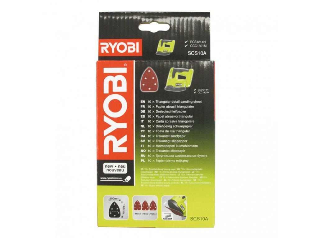 Ryobi SCS 10 A1 - sada brusných papírů pro ECS1214, CCC 1801 MHG