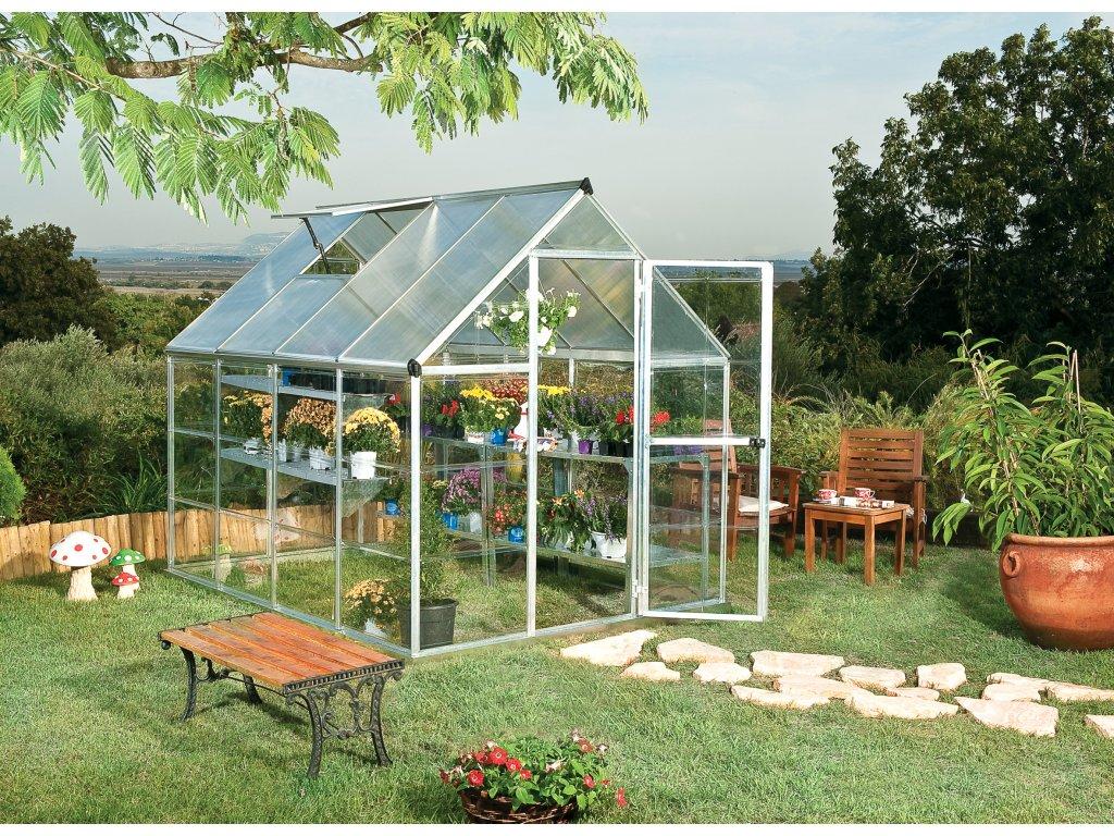 Palram hybrid 6x8 - polykarbonátový skleník