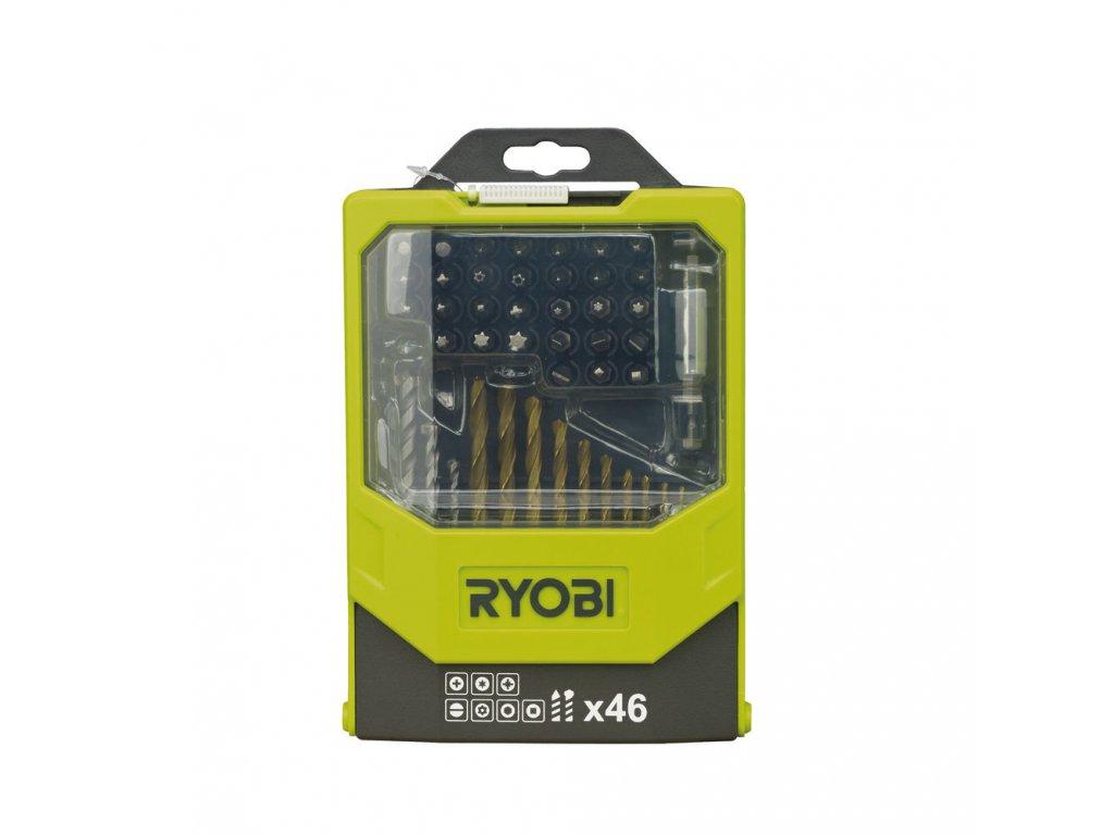 Ryobi RAK 46 MIX - 46 ks sada vrtáků a šroubovacích bitů