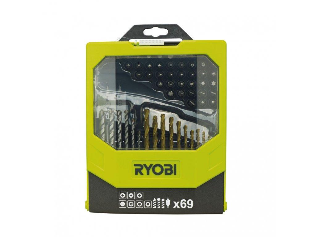 Ryobi RAK 69 MIX - 69 ks sada vrtáků a šroubovacích bitů