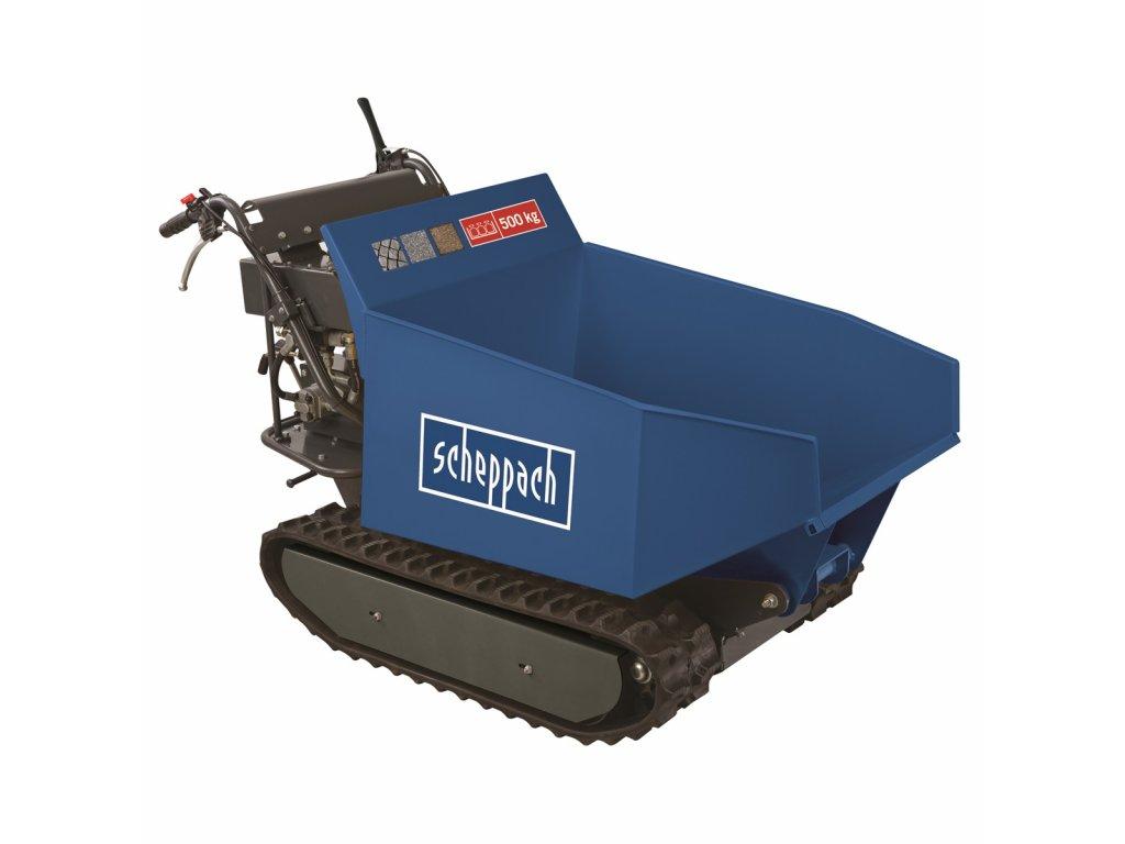 Scheppach DP 5000 - pásový přepravník 500 kg s hydraulickým sklápěním korby
