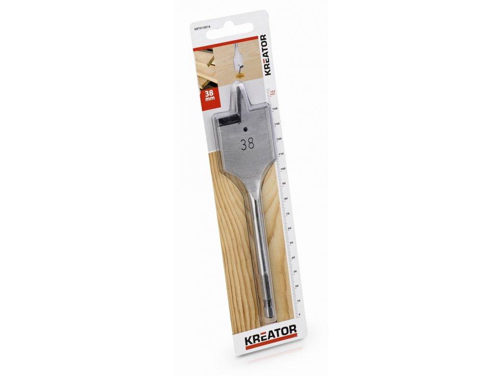 KRT010816 - Plochý vrták do dřeva 38 x 152 mm