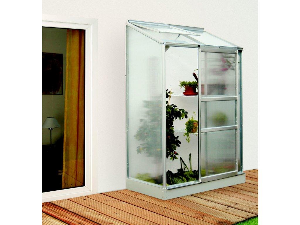 skleník VITAVIA IDA 900 PC 6 mm stříbrný