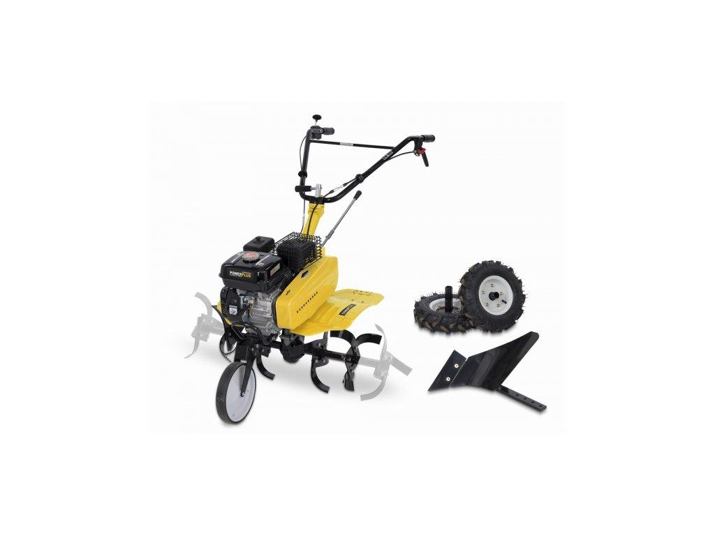 Benzinový kultivátor 208cc Powxg7217  + + pluh ZDARMA