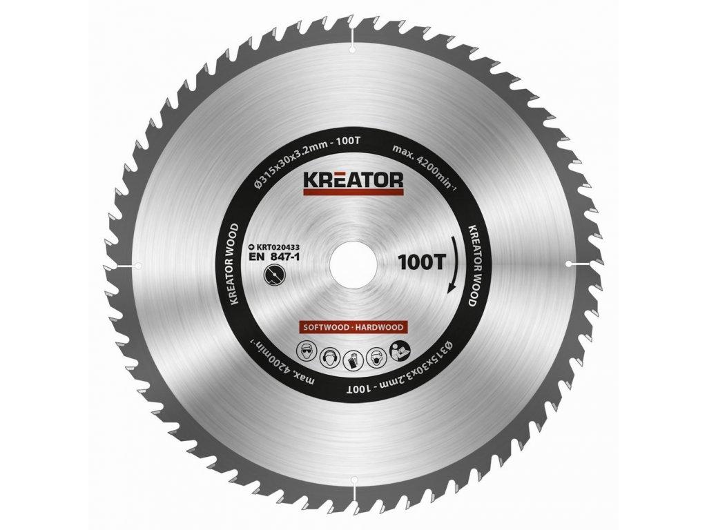 KRT020433 - Pilový kotouč na dřevo 315mm, 100T