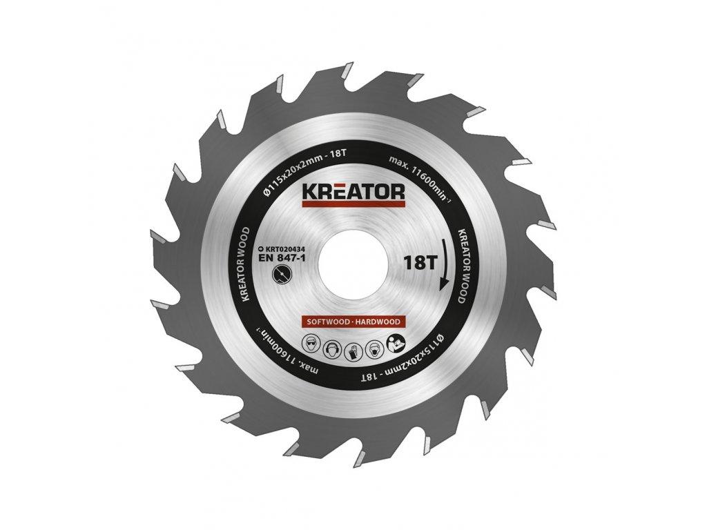 KRT020434 - Pilový kotouč na dřevo 115mm, 18T