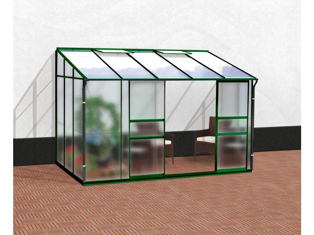 skleník VITAVIA IDA 6500 matné sklo 4 mm + PC 6 mm zelený