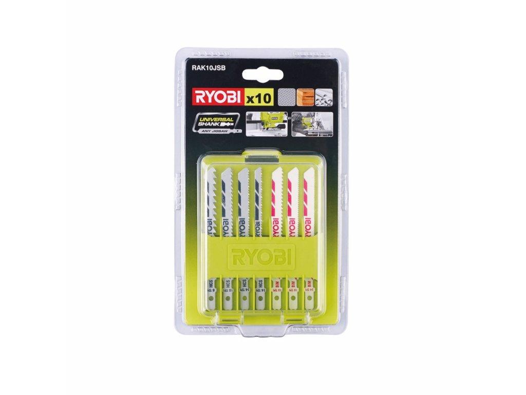 Ryobi RAK10JSB - 10ti dílná sada pilových plátků pro přímočaré pily