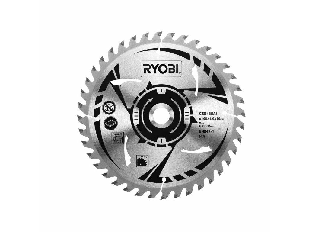 Ryobi CSB165A1 - pilový kotouč pr. 165/16mm, 40z. pro pily R18CS