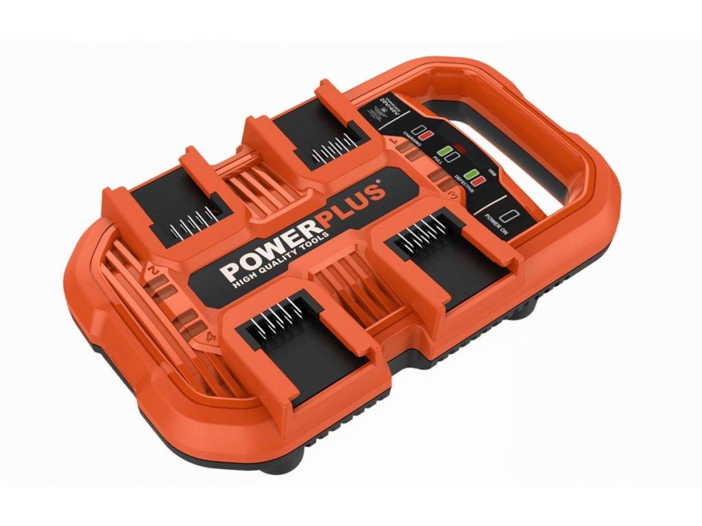 POWDP9055 - Multi nabíječka na 4 baterie 20V/40V
