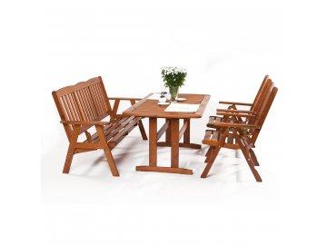 Garland Sven 2+3+ - sestava nábytku z borovice (2x pol. křeslo, 1x třímístná lavice, 1x stůl)