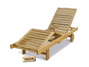 NEVADA - Luxusní polohovatelné dřevěné lehátko
