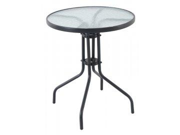 Garland Pikolo Round - kovový stůl se skleněnou deskou