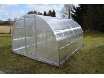 skleník LANITPLAST KYKLOP 3x4 m PC 4 mm  + + tyče na rajčata + čistič na polykarbonát