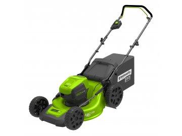 Greenworks GD60LM46HP - 60 V aku travní sekačka 46 cm 3 v 1 s indukčním motorem