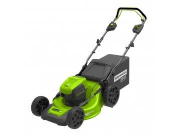 Greenworks GD60LM46SP - 60 V aku travní sekačka 46 cm 3 v 1 s indukčním motorem a pojezdem