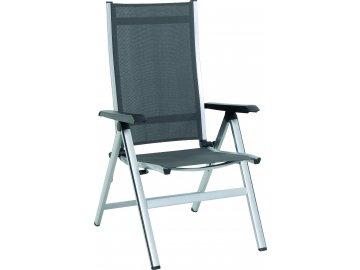 MWH Elements - hliníková polohovatelná židle 68 x 62 x 110 cm