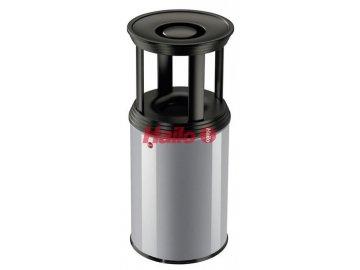 ProfiLine combi plus 30 stříbrný - Samozhášecí odpadkový koš s popelníkem