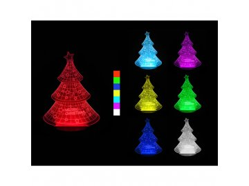 3D LED lampa - Vánoční stromek