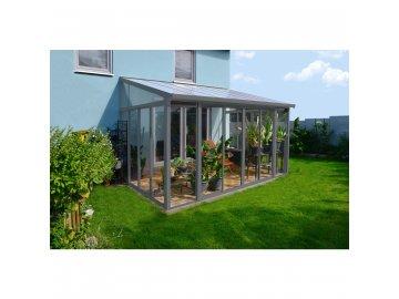 Palram Torino 3 x 4,25 šedá - zimní zahrada