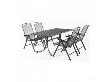 MWH Basanis 4+ - sestava nábytku z tahokovu (4x pol. křeslo Savoy, 1x stůl Universal 160)