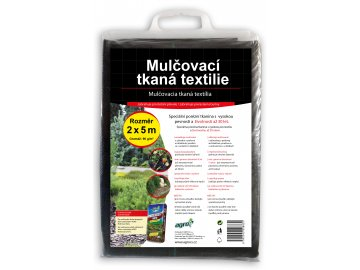 AGRO Mulčovací tkaná textilie černá - 2 x 5 m